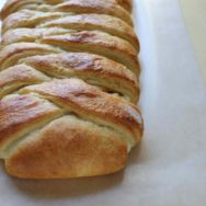 braided peach curd bread