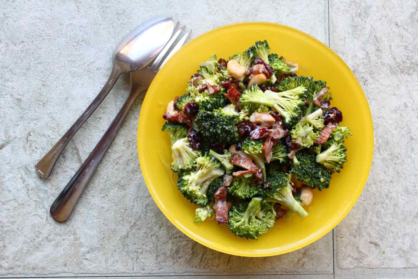 Broccoli Bacon Salad With Creamy Dressing Recipe