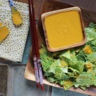 napa cabbage with carrot-ginger dressing recipe