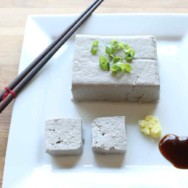black soybean tofu (with a mold!)