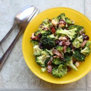 broccoli-bacon salad with creamy dressing recipe