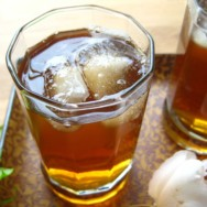 persian-style iced tea with rosewater