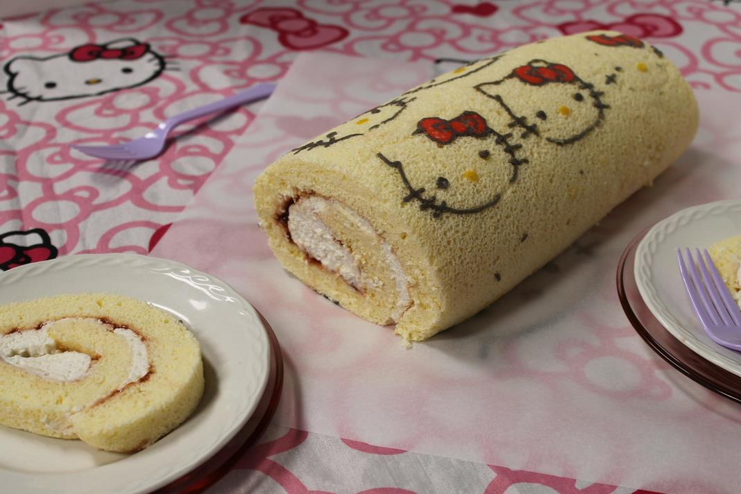 Hello Kitty Cake Roll Recipe A Birthday For A Two Year