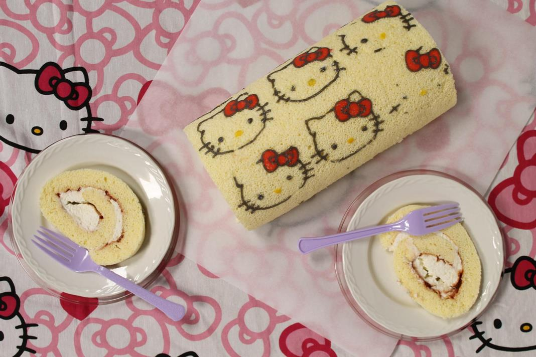 hello kitty cake roll recipe a birthday for a twoyearold story