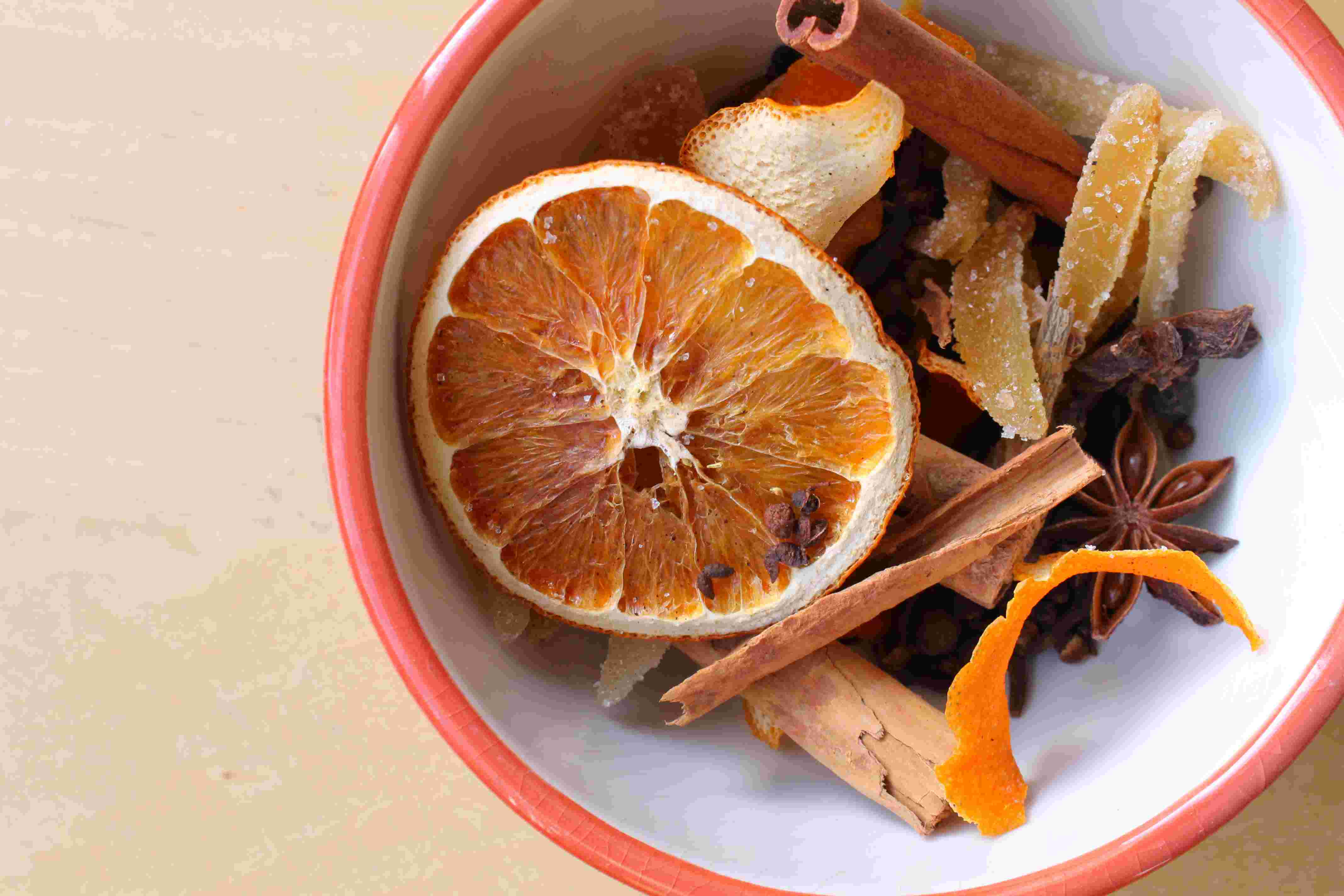 mulled cider with homemade spice sachet