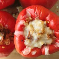 calabrese sausage stuffed bell peppers