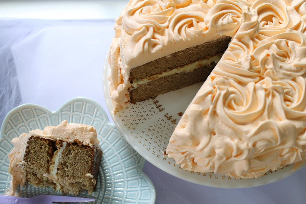 spice cake with orange cream cheese filling and orange ...