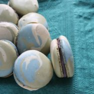 tricolor macarons with blueberry ganache recipe: a recollection of maine
