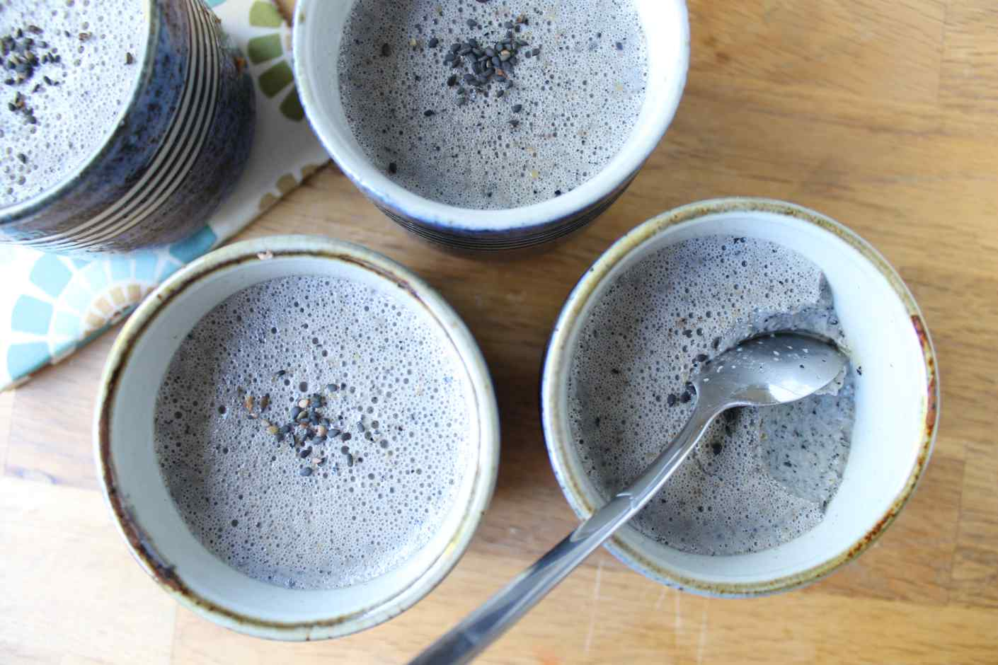 black sesame pudding recipe (kuro goma purin 黒ごまプリン ...